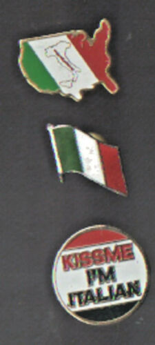 3 DIFFERENT ITALIAN HAT LAPEL VEST PINS UP TIE TAC NWOT