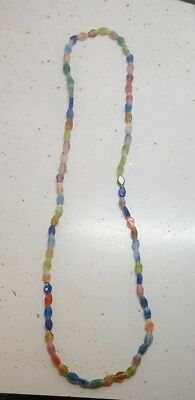 Multi color Glass Jewelry Necklace/Wearable Art  Kwanzaa 34900