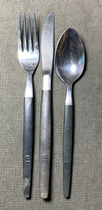 Rare Braniff International Airlines First Class Silverware Set Fork Knife Spoon