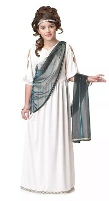 Roman Greek Princess Goddess Child Costume NEW! Dress, Drape, Crown Sz XL 12-14 - Kids Greek Costume