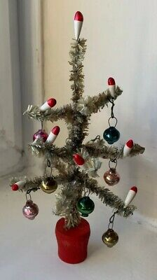 Vintage Christmas Tree Decoration Ornament Pipe Cleaner 50's Retro Minature