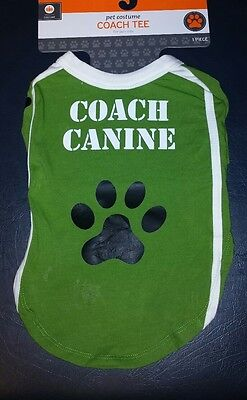 NWT Target Pet Halloween Costume Coach Canine Tee Large 90 lbs Boxer Pit Bull