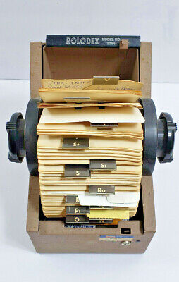 Rolodex Model 2254 Beige Metal With Index Tabs With Dividers. No Key