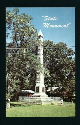 Arnolds Park Iowa IA c1960s Gardner Massacre Stone Monument and Park Spirit Lake