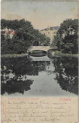 Oostende Ostende le pont dans le Parc Léopold 1902