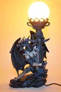 XXL Drachen Lampe Figur Dragon Deko Fantasy *44,0 cm*