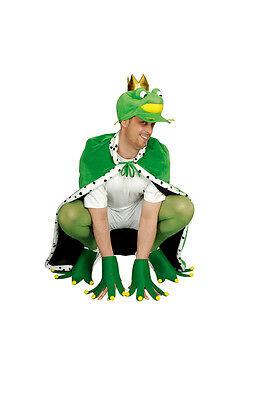 Froschkönig Umhang Herren Kostüm m. Hände und Füße Märchen Umhang Frosch König