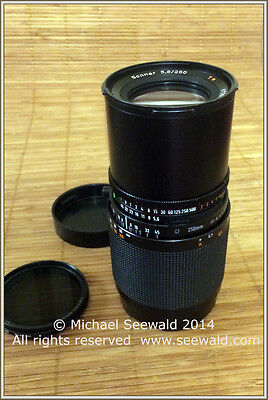 Hasselblad Carl Zeiss Sonnar CF 250mm f/5.6 T* Lens -Cond: Excellent -