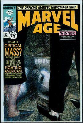 Marvel Comics MARVEL AGE #83 Critical Mass NM- 9.2