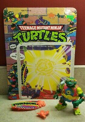 TMNT Teenage Mutant Ninja Turtle 1990 MIKE SEWER SURFER Weapons & Card 5115 (Ninja Turtle Weapons)