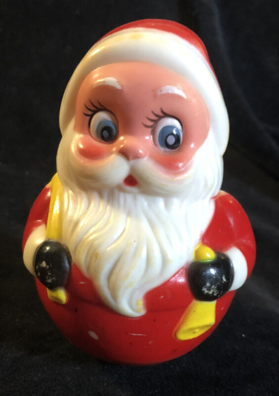 Vtg Roly Poly Musical Jingle Santa Claus Kiddie Products Inc Avon Mass Free Ship