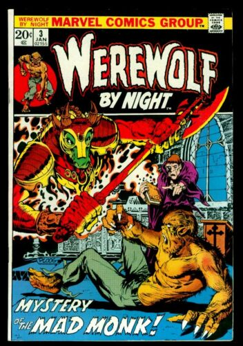 Marvel Comics WEREWOLF By Night #3 VFN- 7.5