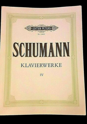 SCHUMANN KLAVIERWERKE BAND IV, EDITION PETERS 210 PAGES SOFT COVER M-4