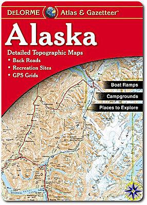 NEW Delorme Alaska AK Atlas and Gazetteer Topo Road Map Topographic Maps