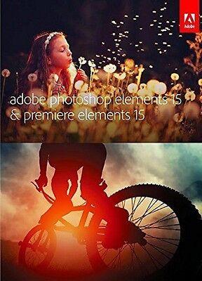 Adobe Photoshop Elements 15 & Premiere Elements 15 Bundle Disc (NEW) - 65273582