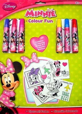 Disney Junior Minnie Mouse Colour Fun Colouring Book & Markers Set, Age 3+ Years