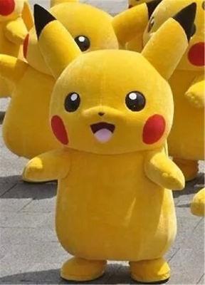 Brand New Pikachu Adult Mascot Costume Halloween Party Pokemon Go Cosplay game - Brand Mascot Halloween Costumes