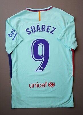 12e3f7f82a2 5 5 Suarez Barcelona player issue jersey shirt 2017 2018 football away Nike