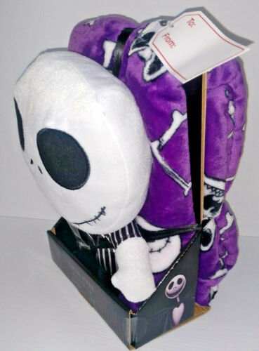 "Disney Nightmare Before Christmas Jack Pillow Buddy Throw 40"" x 50"" Blanket Set"