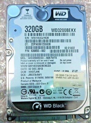 8 Pc Lot - Western Digital Black 320GB 2.5