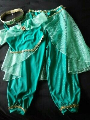 WDW Walt Disney Park Original Princess Jasmine Costume Fancy Dress Age 7-8 Yrs