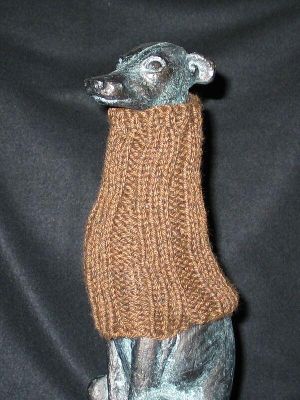 Brown Italian Greyhound Dog Snood 2 wear w/ dog coat 100% Donation 2 Cure Cancer