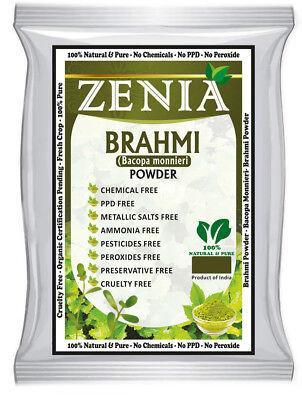 BUY 4 GET 1 FREE - 100g Zenia Brahmi Powder Hair Fall Control Ayurvedic Herb Brahmi Herb Powder