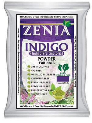 Buy 4 Get 1 Free   Zenia Indigo Powder Natural Hair Dye Color 100 Grams