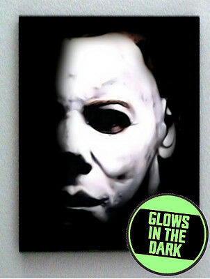 Michael Myers Halloween Glow In The Dark Framed Cool Art Mini Poster
