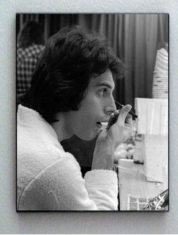 Rare Framed 1977 Queen Freddie Mercury Puts On Makeup Photo. Jumbo Giclée Print