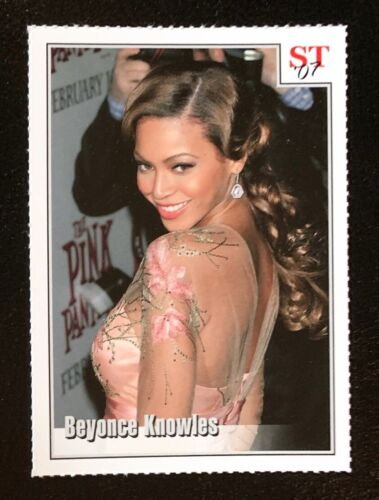 """BEYONCE KNOWLES """"The Pink Panther"""" 2007 Spotlight Tribute Trading Card"""