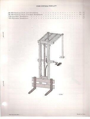Bobcat Vertical Fork Lift For Skid Steer Loader Parts Manual