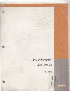 Case 1840 Uni-Loader Skid Steer Loader Parts Manual