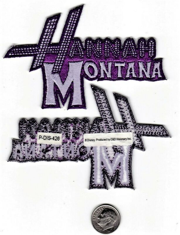 VINTAGE HANNAH MONTANA EMBROIDERED IRON/SEW ON PATCH NEW OLD STOCK NOS! DIS-426!
