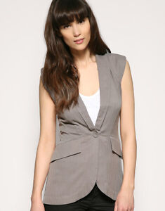 BNWT Warehouse @ ASOS Pleat & Fold Silk Waistcoat RRP £45 - UK 12