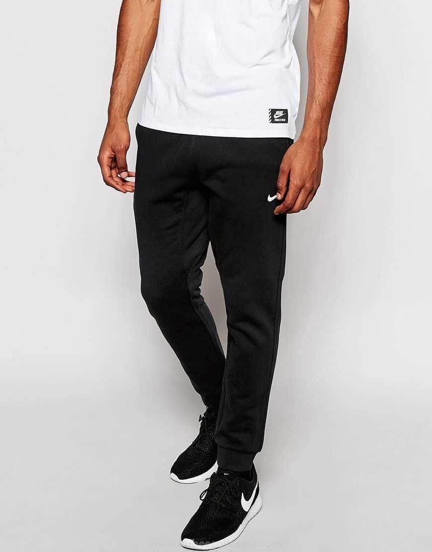 New With Tags Men's Nike Gym Muscle Slim Club Fleece Jogger Pants Sweatpants Black