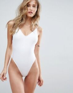 ASOS Cross Back High Leg One Piece - New