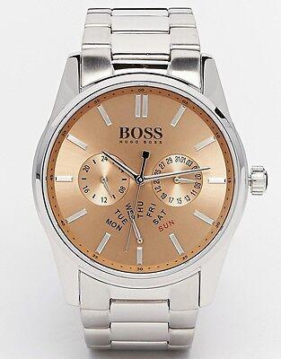 New-Hugo Boss Herencia Color Plata, Multifunción Reloj de Pulsera 1513128