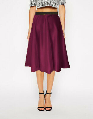 High Waist Skirt Classic Skirt Satin Midi Casual Skirt Girls Sexy Dress S35