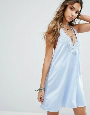 Kiss The Sky Halter Neck Slip Dress With Lace Insert Size S (bought on ASOS)
