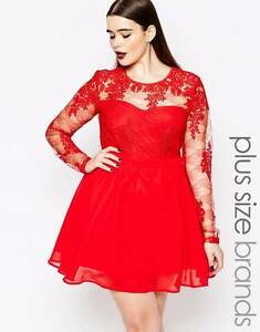 Missguided Plus Red Lace Prom Dress Nudgee Brisbane North East Preview