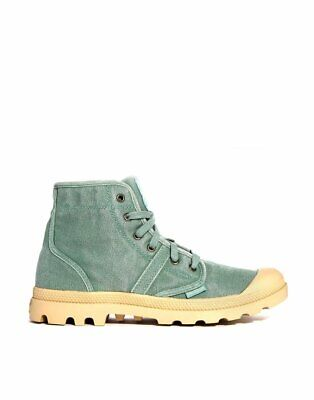 NIB Palladium Pallabrouse Men's Lace-Up Hiking Boots in Hedge Green