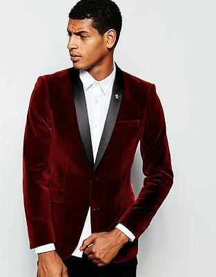 2 Piece Mens Velvet Fabric Wedding Suits Groom Tuxedos Bridegroom Suits Custom](Velvet Mens Suits)