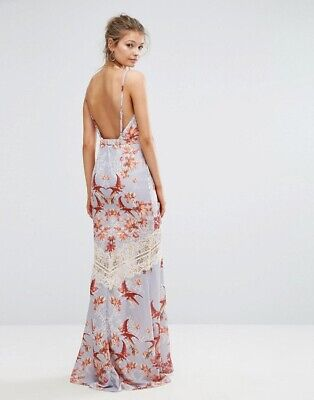 hope and ivy dress Size 6 Printed Maxi Low Back