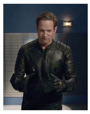 Matt Letscher Legends of Tomorrow Eobard Thawne Black Slim Fit Leather Jacket