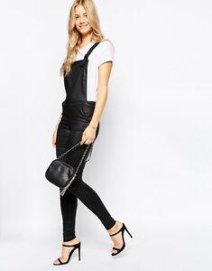 Vera Moda Leather Look Dungarees