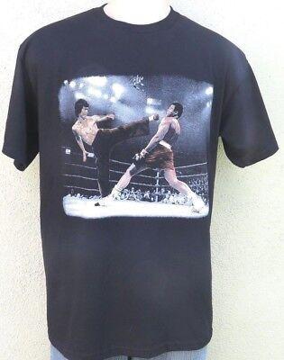 Bruce Lee Vs Muhammad Ali Boxing Legend T Shirt Karate Kung Fu Martial Art Tee