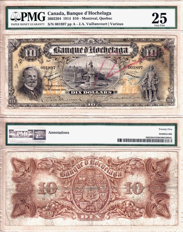 Very Rare 1914 $10 Banque D