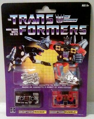Transformers Generation One G1 Reissue Ravage & Rumble New MISB