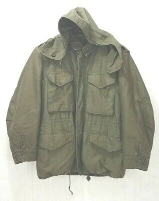 US Army Vintage M-1951 Cold Weather Medium M/L Coat With Removable Liner- Korea